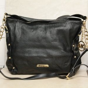 Michael Kors Astor Studded Black Leather Hobo